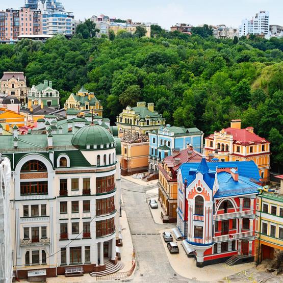 Miasto na Ukrainie